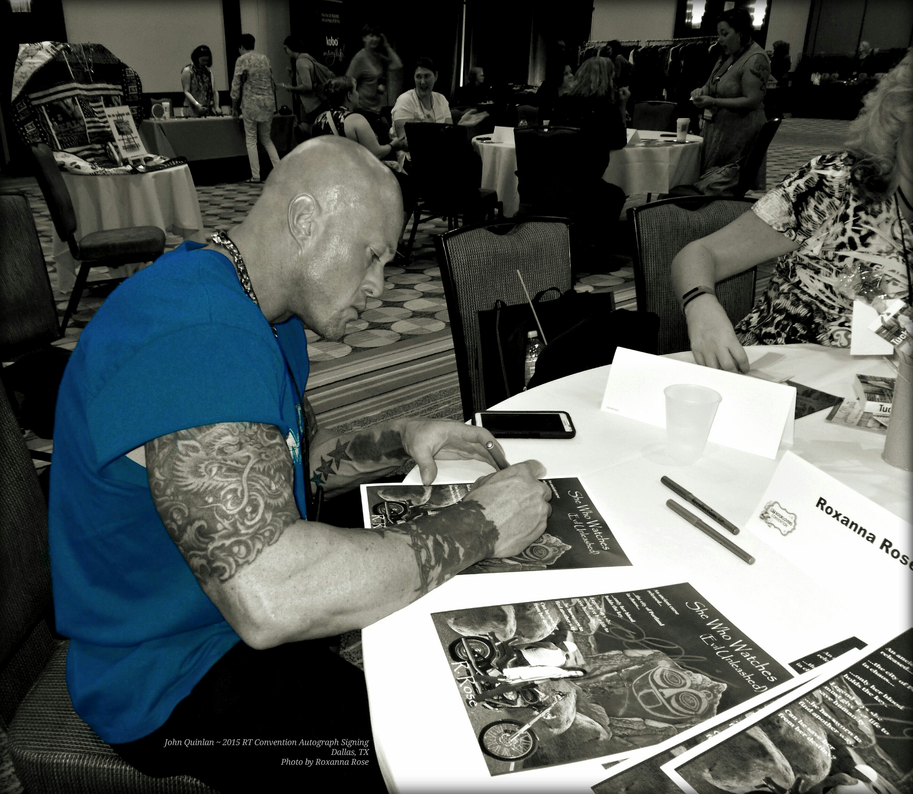 Actor & Model John Joseph Quinlan RT Covention 2015 Autograph Signing #JohnQuinlan