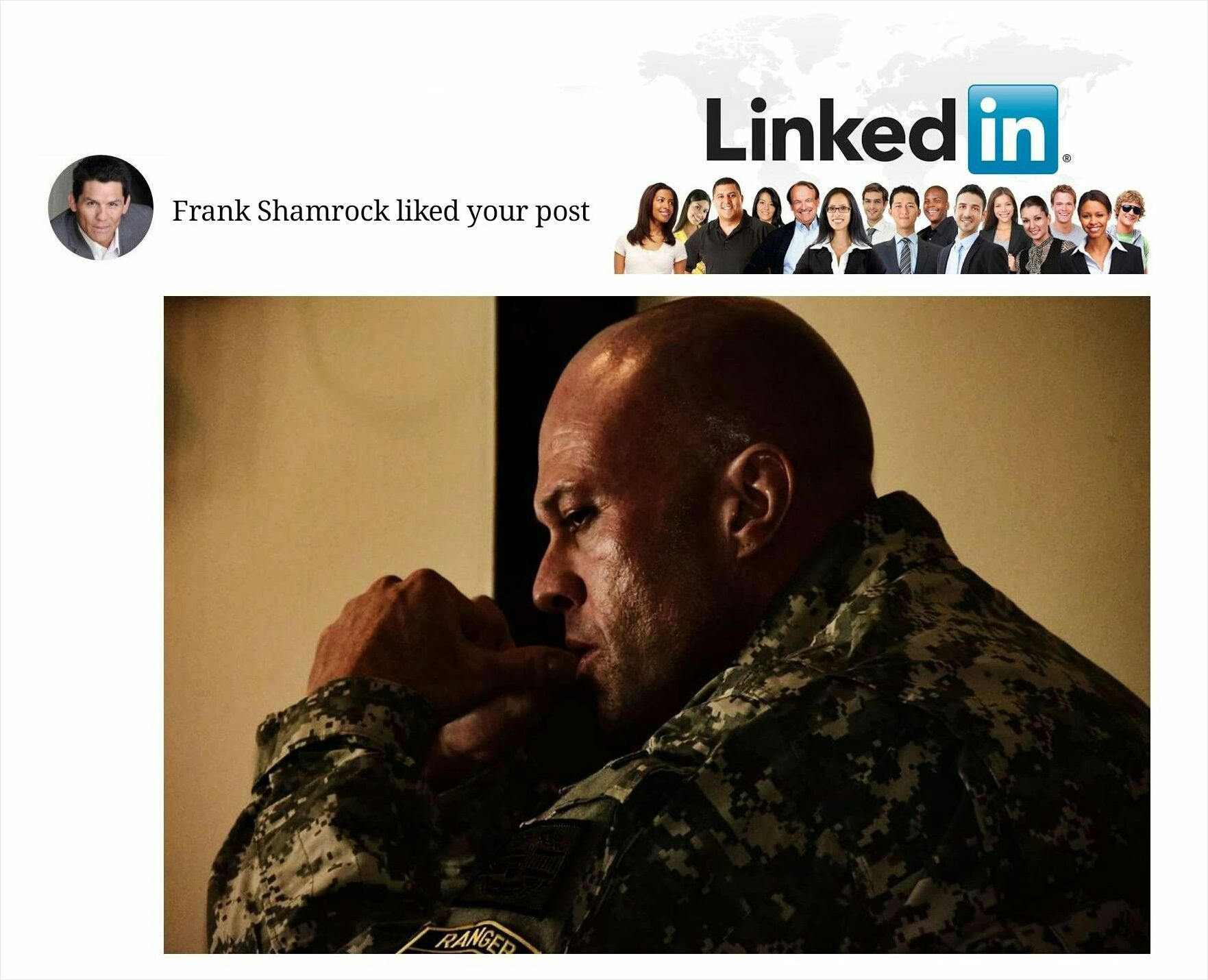 Actor & Model John Quinlan as Captain Jake Nixon Frank Shamrock LinkedIn Like #JohnQuinlan
