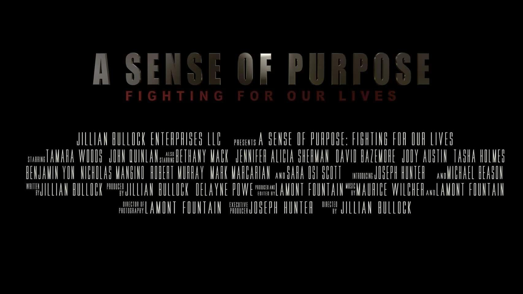 A Sense of Purpose Fighting For Our Lives - Tamara Woods & John Quinlan by Jillian Bullock #JohnQuinlan