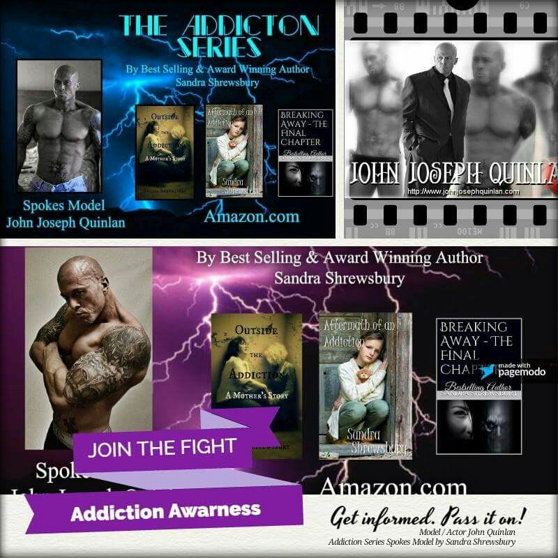 Actor & Model John Joseph Quinlan Addiction Series by Sandra Shrewsbury #JohnQuinlan