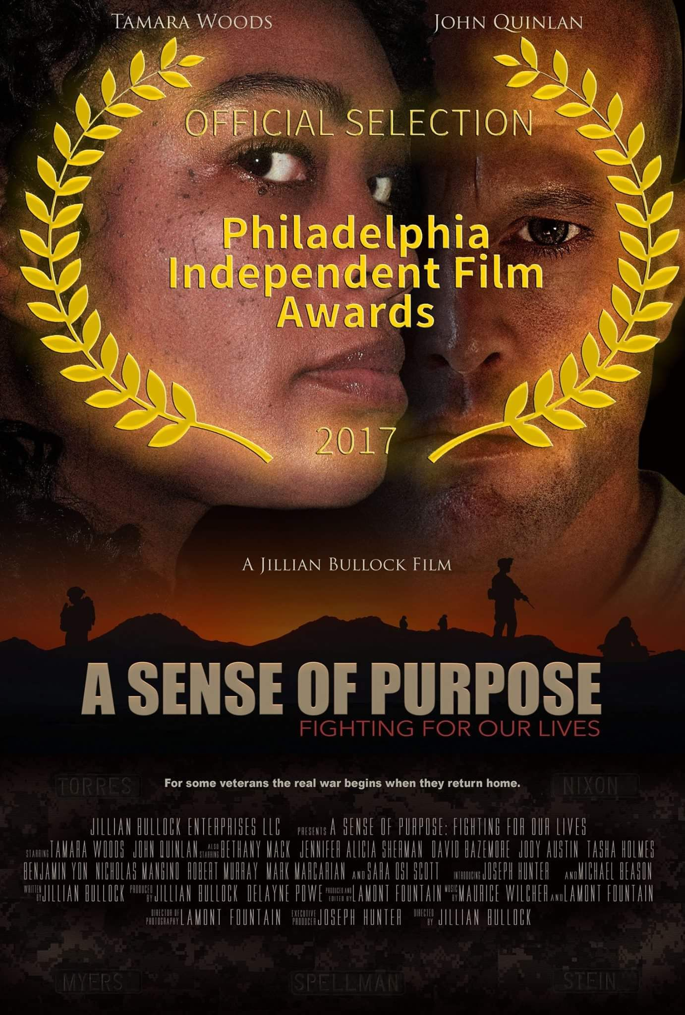 ASOP Movie Poster Actor John Joseph Quinlan & Tamara Woods A Jillian Bullock Film #JohnQuinlan #JillianBullock #ASenseOfPurpose #Movie #TamaraWoods #ASOP #military #sexualassault #filmfestival #Philadelphia