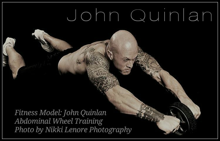 Model & Actor John Joseph Quinlan Fitness Abs Wheel by Nikki Lenore #JohnQuinlan