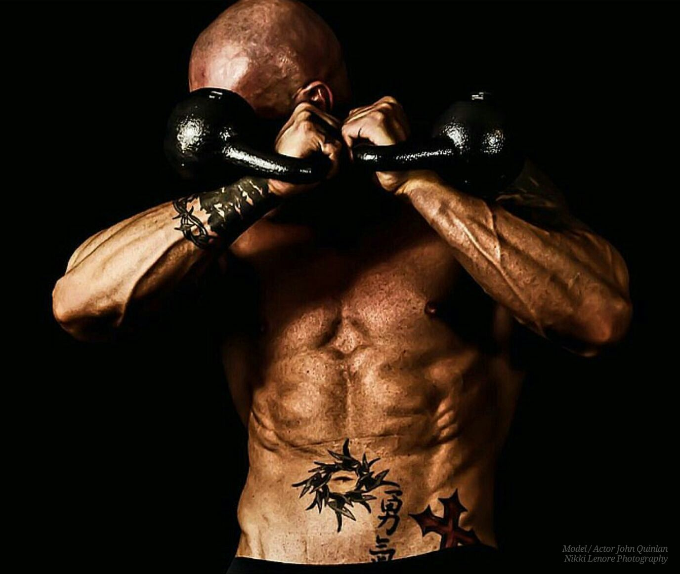 Model & Actor John Joseph Quinlan Fitness Kettlebells & Abs by Nikki Lenore #JohnQuinlan