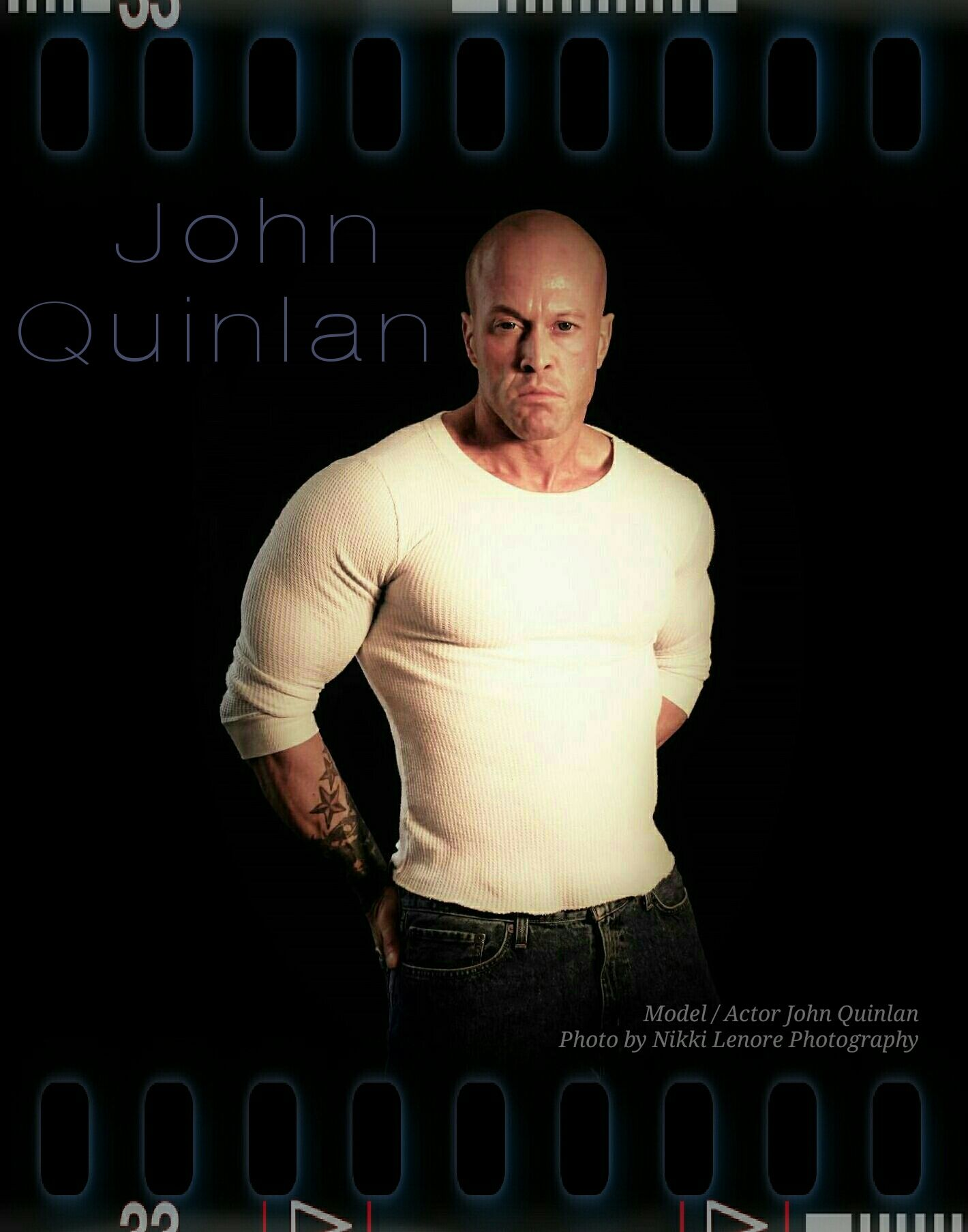 Model & Actor John Joseph Quinlan by Nikki Lenore Movie Film Poster #JohnQuinlan