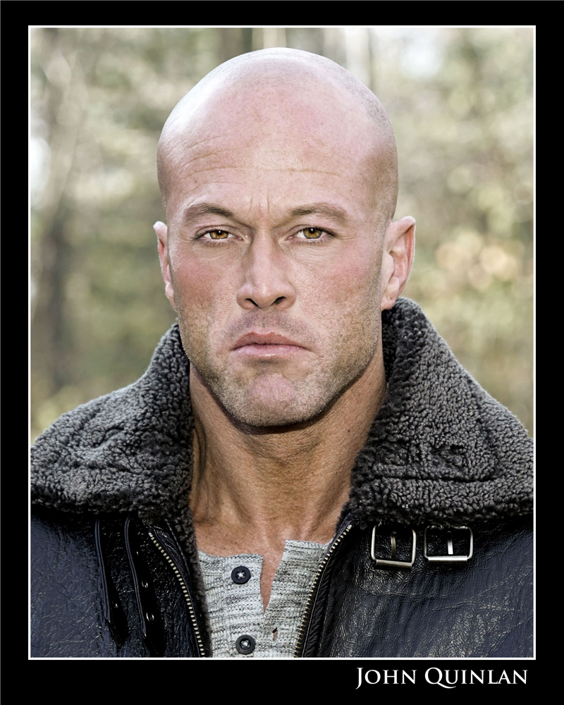 Actor & Model John Joseph Quinlan Leather Jacket by Steve Mark Head Shot #JohnQuinlan