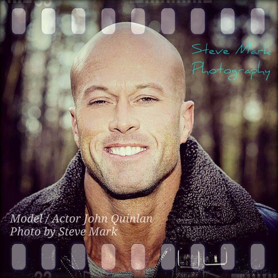 Actor & Model John Joseph Quinlan Leather Jacket by Steve Mark Smile #JohnQuinlan