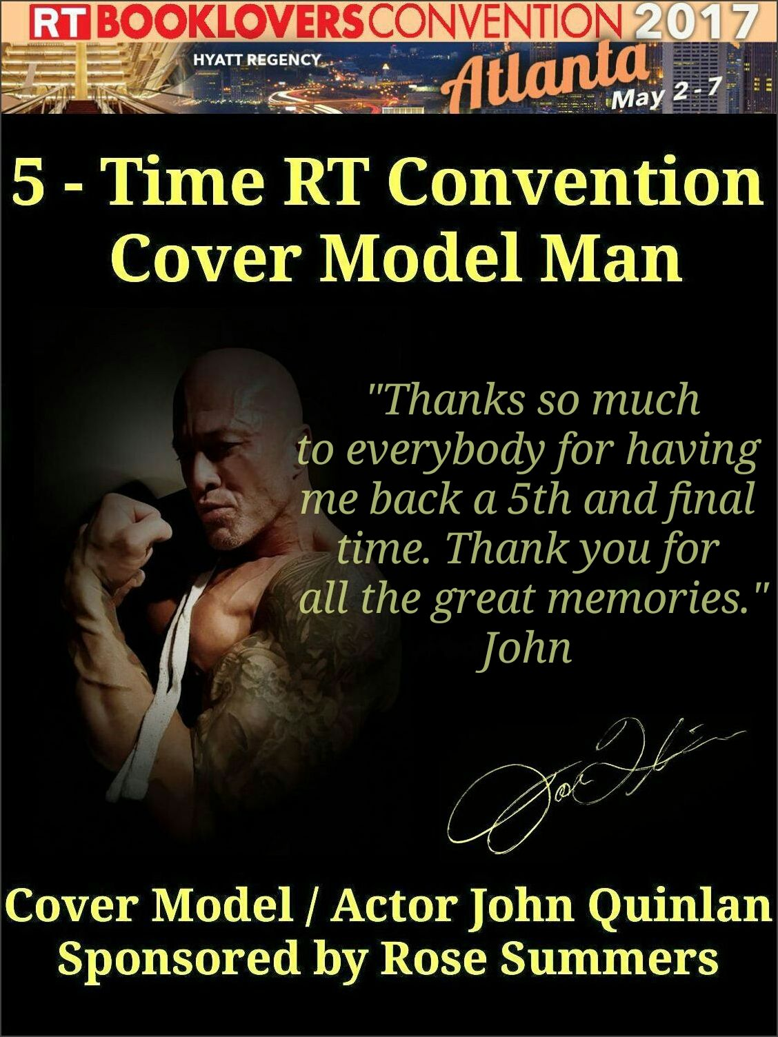 2017 RT Convention Atlanta Featured Cover Model John Joseph Quinlan by Rose Summers #JohnQuinlan