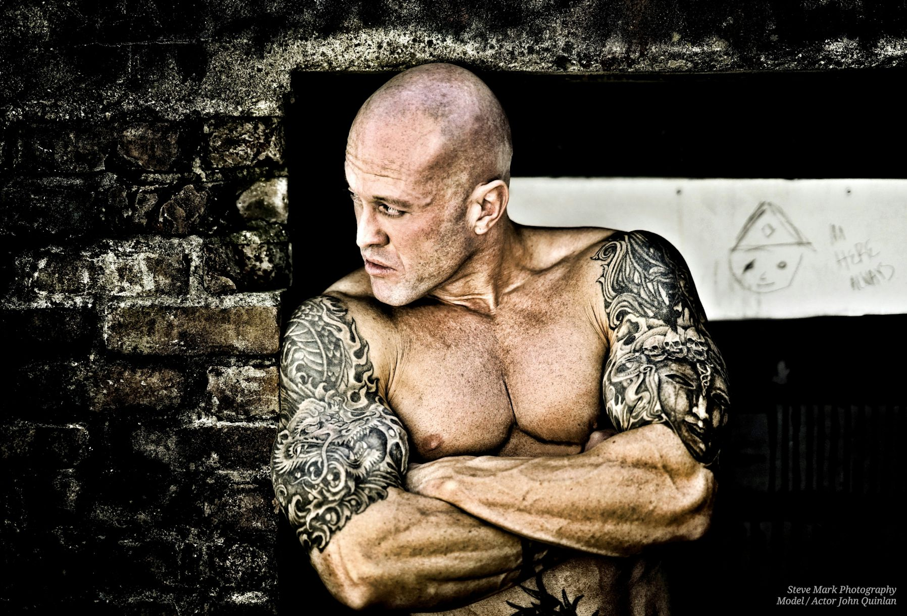 Actor & Model John Joseph Quinlan by Steve Mark Tattooed Badass #JohnQuinlan