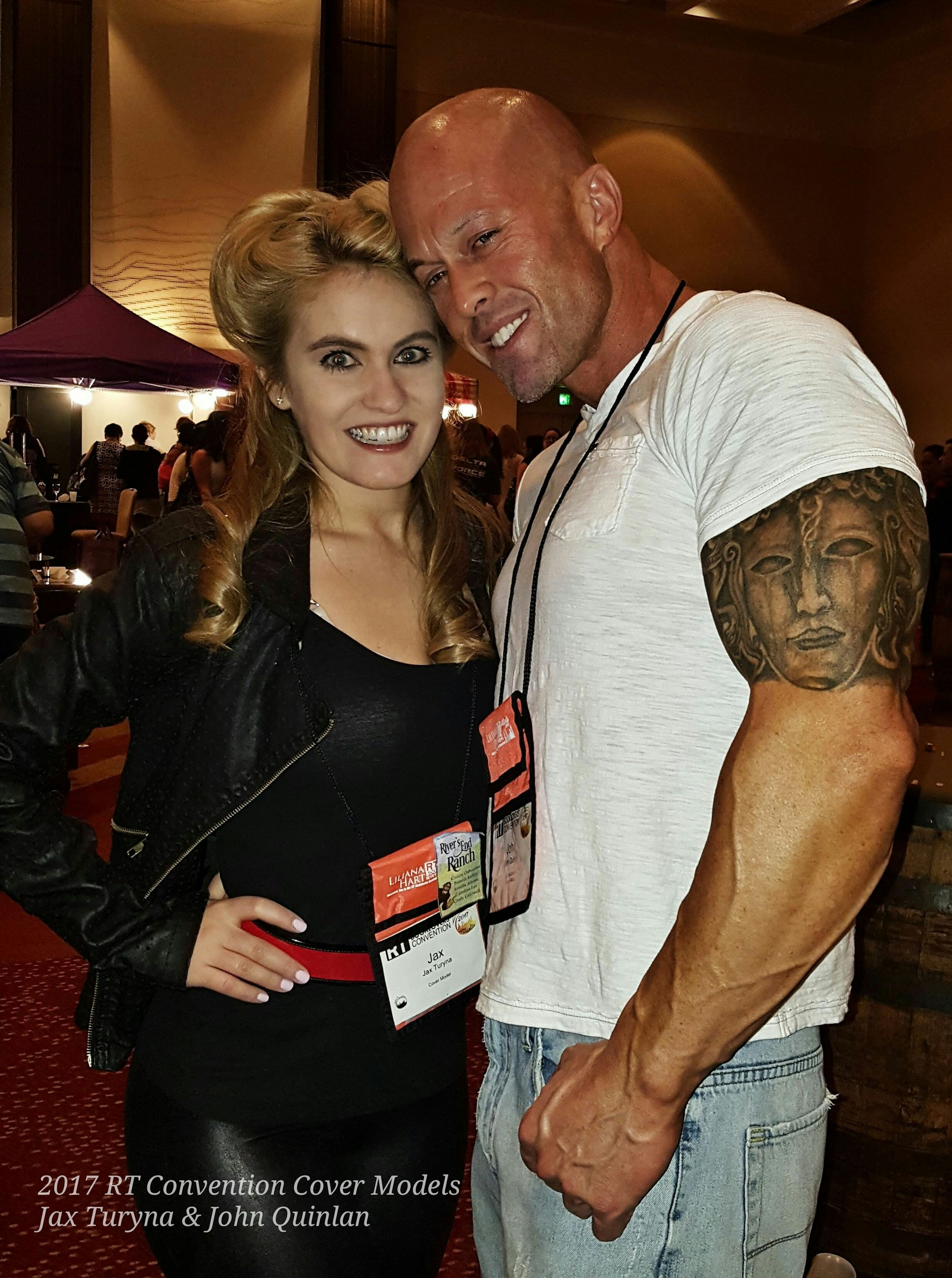 2017 RT Convention Cover Model & Actor John Joseph Quinlan with Jax Turyna #JohnQuinlan