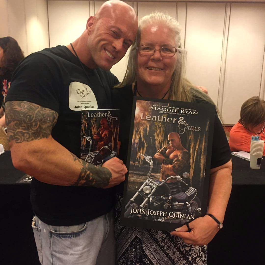 Author Maggie Ryan & Actor Cover Model John Quinlan RT 2017 #JohnQuinlan