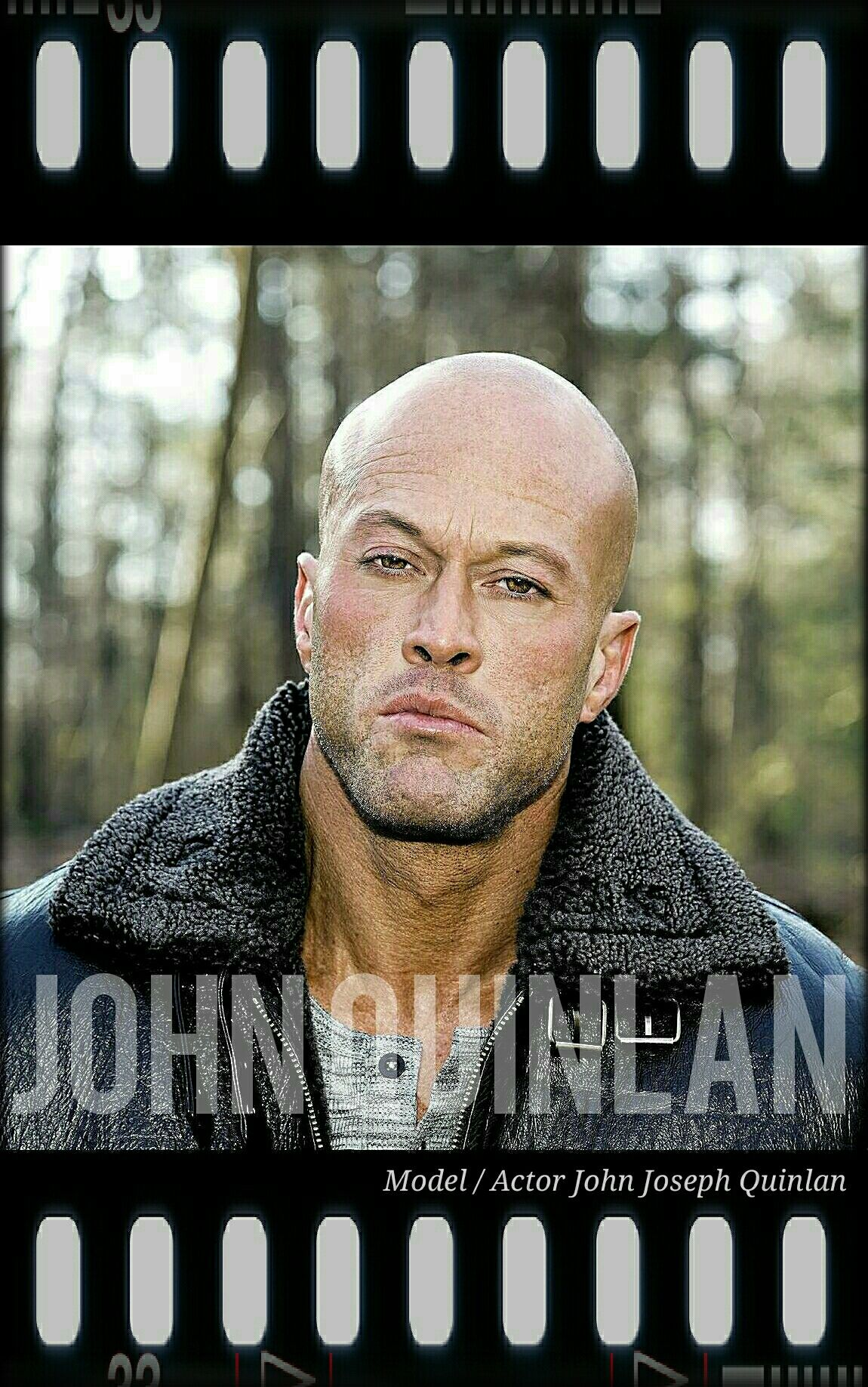 Model & Actor John Joseph Quinlan Bad Boy Leather Jacket Poster 2017 #JohnQuinlan