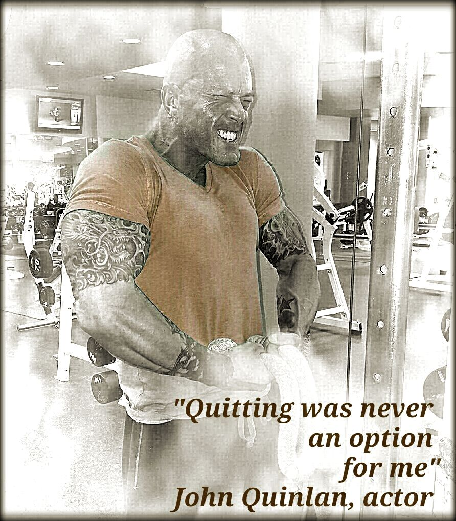Model & Actor John Joseph Quinlan Fitness Physique Poster Quote #JohnQuinlan