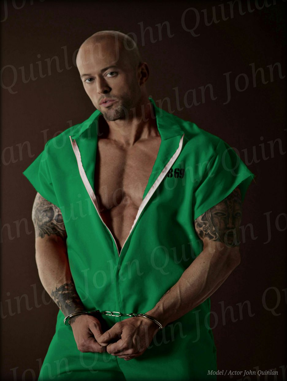 Model & Actor John Joseph Quinlan Green Prisoner Jumpsuit Character Poster #JohnQuinlan