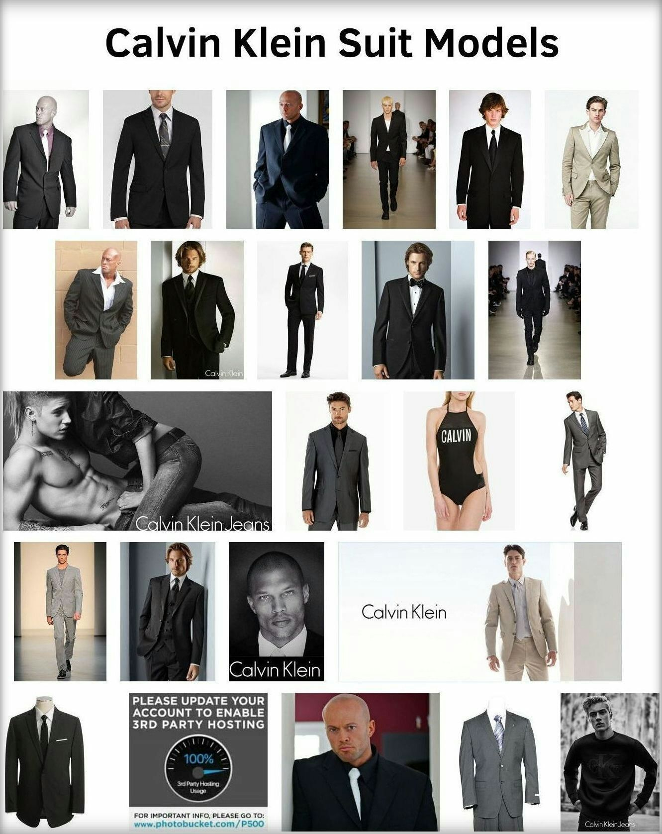 Actor John Quinlan Celebrities @ Calvin Klein Suit Model Gallery #JohnQuinlan