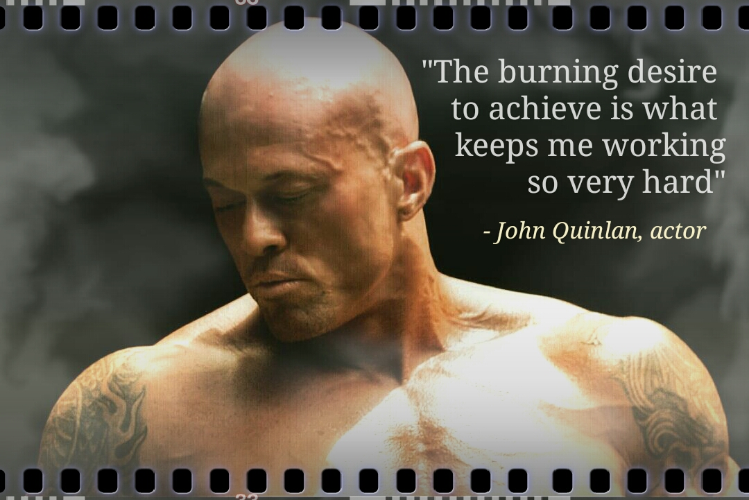 Model & Actor John Joseph Quinlan Achieve & Desire Quote Poster #JohnQuinlan