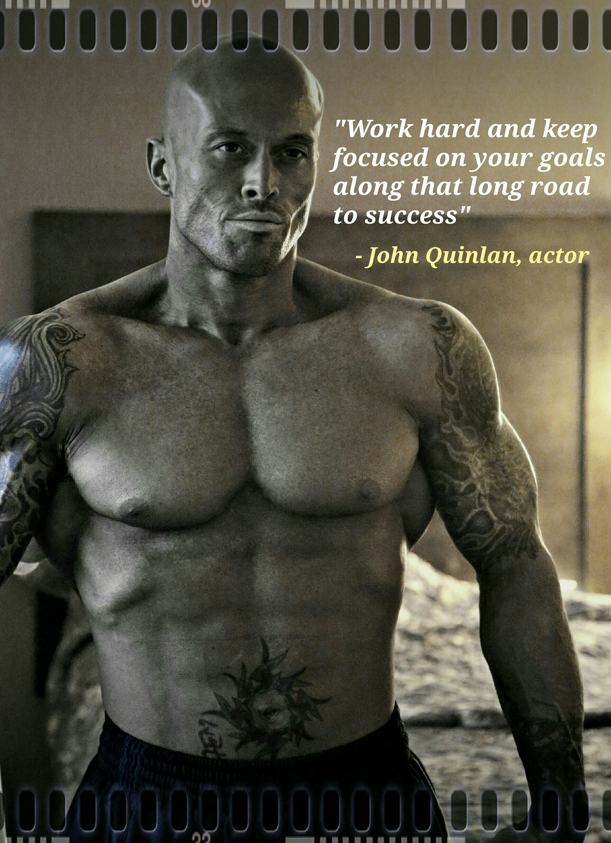 Physique Fitness Cover Model & Actor John Joseph Quinlan Goals Quote #JohnQuinlan