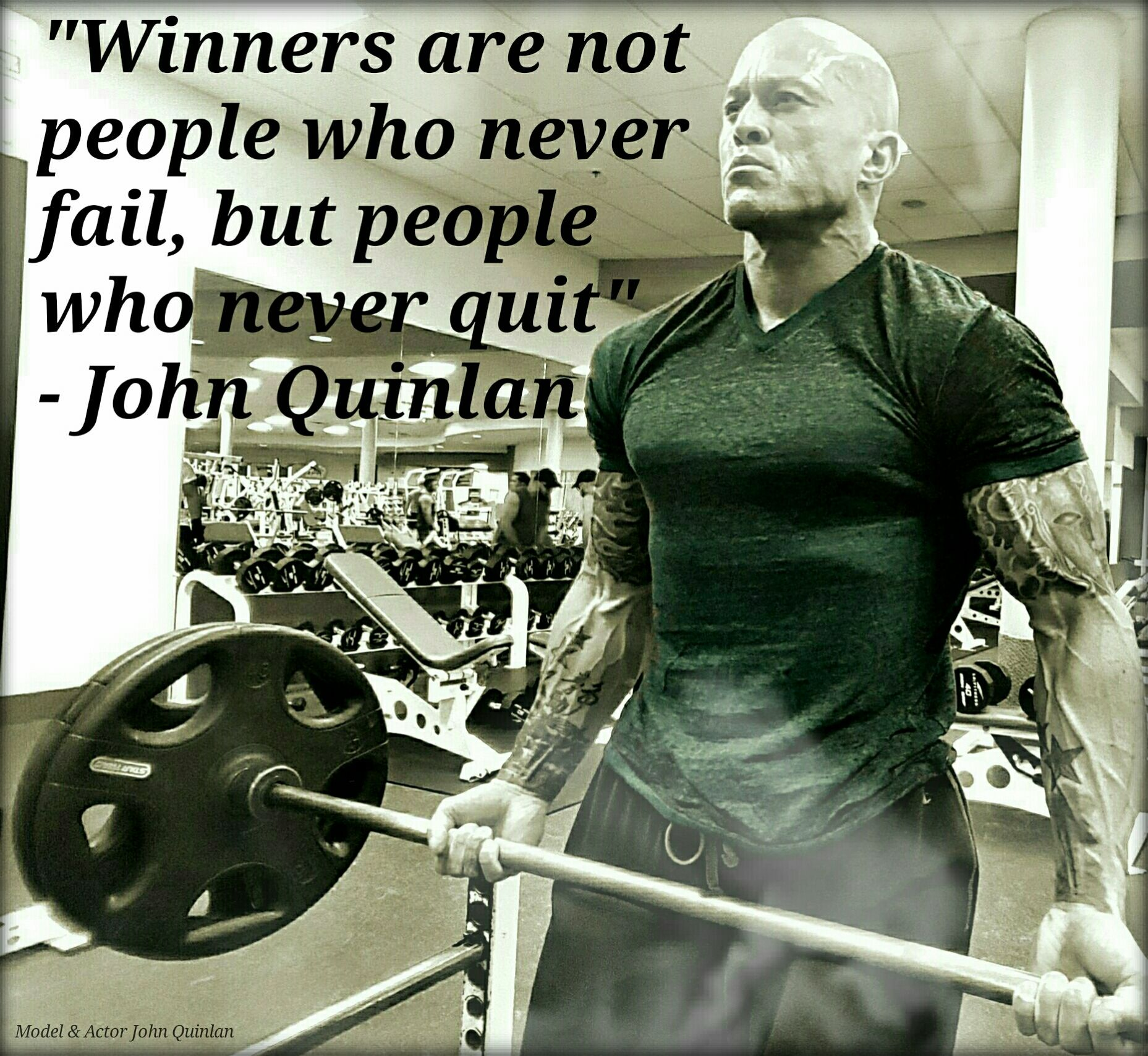 Physique Fitness Cover Model & Actor John Joseph Quinlan Winners Don't Quit #JohnQuinlan
