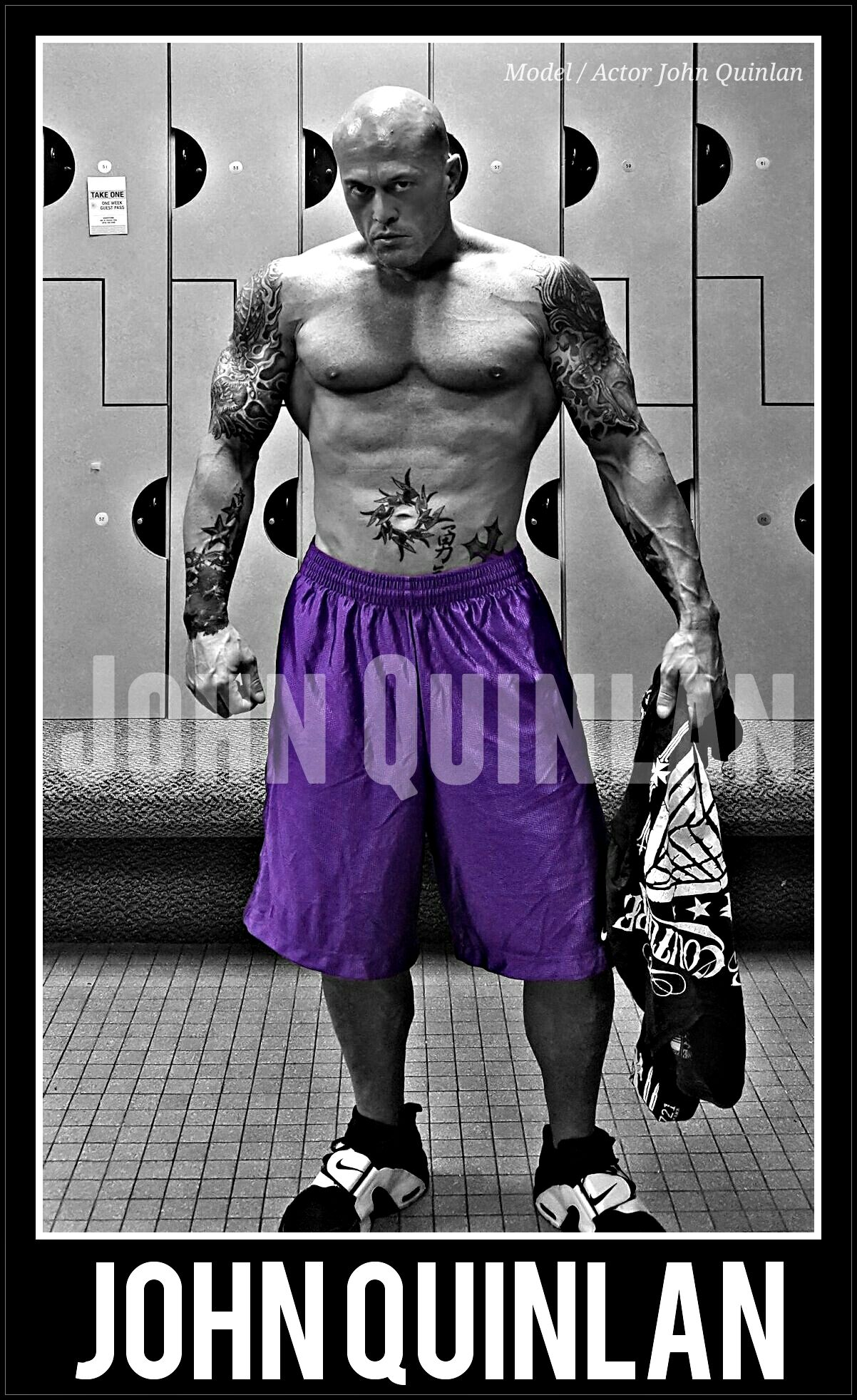 Model & Actor John Joseph Quinlan Post Fitness Gym Workout Poster #JohnQuinlan