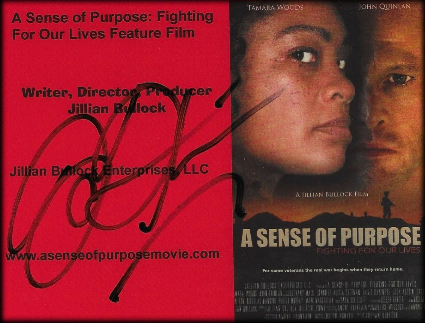 Autograph Poster Actor John Joseph Quinlan ASOP Movie 2018 #JohnQuinlan